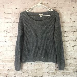 Women's Soft Joie Gray Ribbed Sweater Size Small